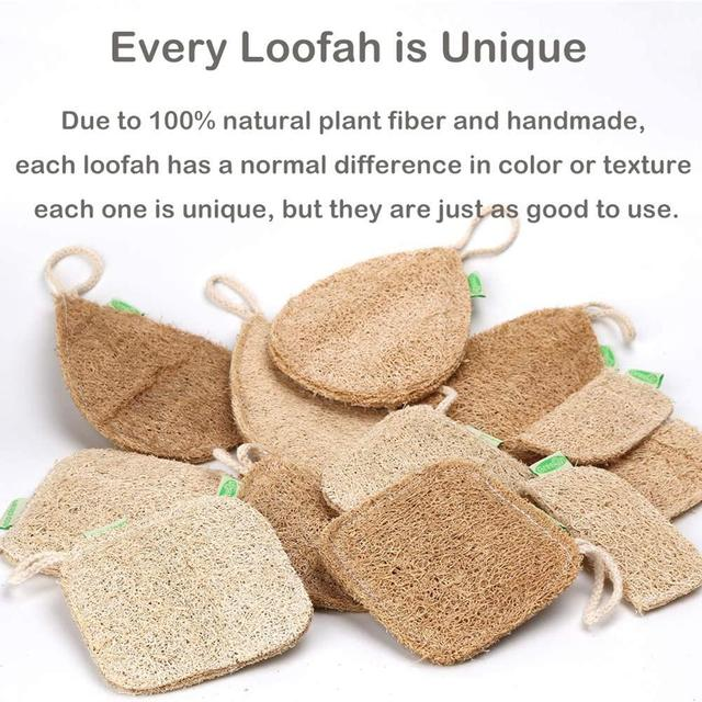 Eco Kitchen Sponge New Pure Handmade Multilayer Natural Loofah Scrubber Anti-oil Durable And Easy To Use Dish Cleaning Brush 5