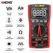 ANENG SZ18 FAI DA TE Transistor Condensatore NCV Rivelatore Lcr Meter Multimetro Digitale 9999 Professionale Vero RMS AC/DC Analogico Tester