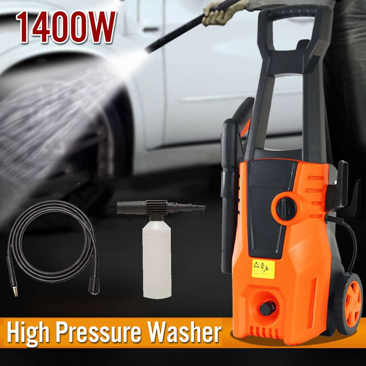 Spray-Gun Detergent-Bottle Car-Washer Turbo-Water-Hose Self-Washing-Machine High-Pressure-Cleaner title=