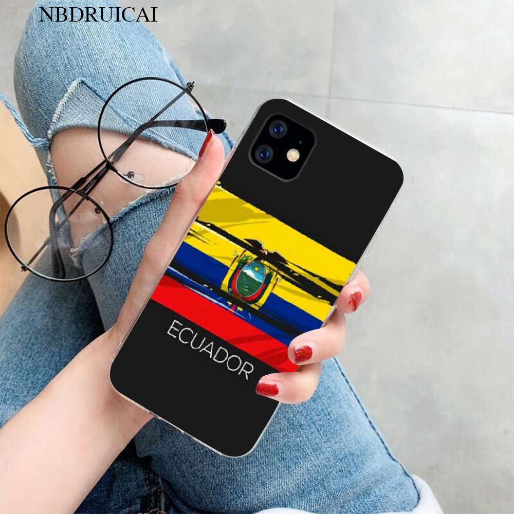NBDRUICAI Ecuador Bandiera Cassa Del Telefono per il iPhone 11 pro XS MAX 8 7 6 6S Plus X 5S SE XR copertura