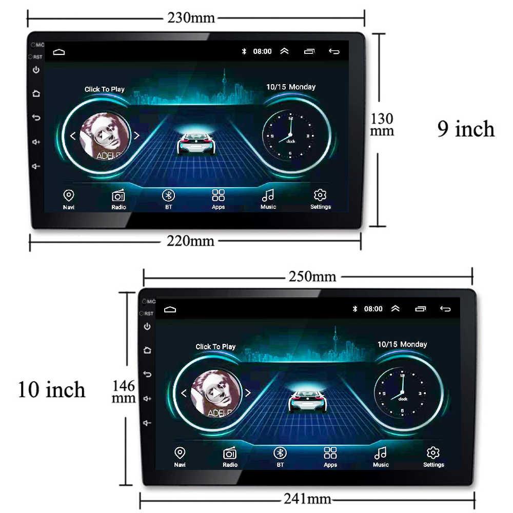 """Nawigacja samochodowa gps dla 2007-2018 toyota fj cruiser z systemem Android 8.1 9 """"samochodowy odtwarzacz dvd w samochodowy odtwarzacz multimedialny MP5 HD w pełni dotykowy ekran obsługujący FM TV"""