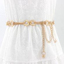 Модный женский тонкий ремень из дикого золота Аксессуары для