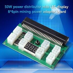 Image 4 - التعدين 750 واط خادم PSU امدادات الطاقة لوحة القطع محول مع شاشة LED 8 منافذ PCI e 6 دبوس ل HP DPS 1200FB DPS 1200QB