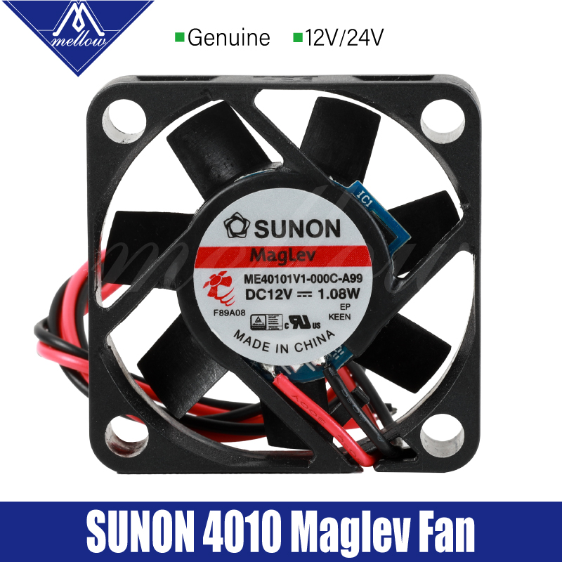 Mellow Sunon 12V 24V 3D Printer Small Cooling Magnetic Suspension Bearing 4010 Fan Cooling Extruder Hotend BLV mgn Cube Ender 3