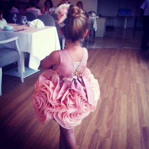New Girls Ball Gowns First Communion Dresses Flower Girl dresses for Wedding Kids frock designs one year Birthday dress
