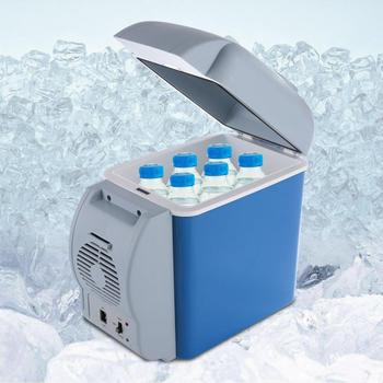 led portable cooler warmer usb fridge refrigerator mini beverage drink cans cooler power for office laptop pc usb gadgets 12V 7.5L Mini Refrigerator Portable Car Cooler Warmer Freezer Home Camping Travel Fridge Cooling Box Food Fruit Storage Fridge