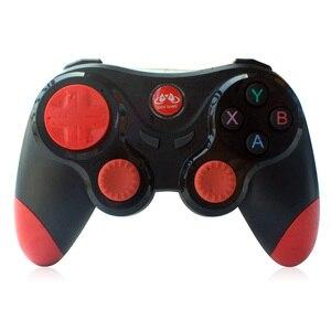 Image 2 - Bezprzewodowy Android Gamepad Joystick bezprzewodowy kontroler do gier Bluetooth kompatybilny Joystick dla Moblie Tablet z funkcją telefonu TV, pudełko uchwyt na