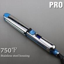 Max 750F Pro titanium schwimm platte flache eisen haarglätter professionelle schnelle elektrische haar richt metall gehäuse
