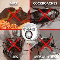 Repelente ultra sônico de pragas  repelente ultrassônico para insetos com 2020 metros quadrados  proteção contra mosquitos e pragas  atualização de 300
