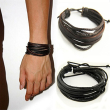 Hot Leather Bracelets amp Bangles For Men And Women Black And Brown Braided Rope Fashion Man Jewelry Gift cheap Wrap Bracelets zinc Alloy CN(Origin) Classic Rope Chain All Compatible GEOMETRIC NONE 369739 Lace-up Anniversary Engagement Gift Party Wedding