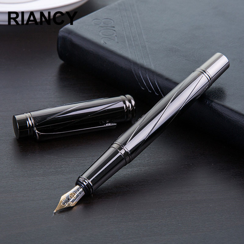 Luxury Silver Plating Fountain Pen Ink Pen Nib High Quality 0.5MM Vulpen Stationery Stylo Plume Penna Stilografica Vulpen 3872