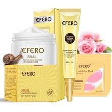 Snail Face Cream Collagen Eye Cream Hyaluronic Acid Moisturizing Anti-aging Wrinkle Nourishing Whitening Face Cream Skin Care
