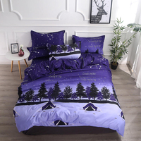 Thumbedding Forest Night Bedding Set Single Camping Fantasy Fashionable Duvet Cover Queen King Full Twin Unique Design Bed Set