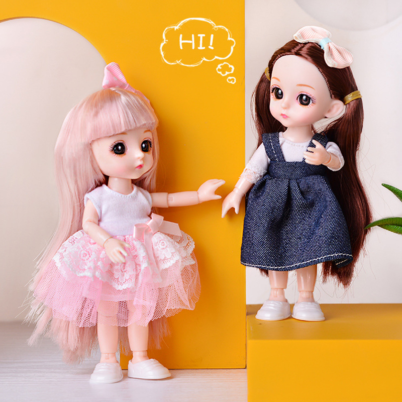 1/12 16 см Bjd кукла 13 суставов Мини Принцесса для малышей с модной повседневной одеждой Аксессуары куклы-наряды Игрушки для девочек Gifs DIY,кукла ...