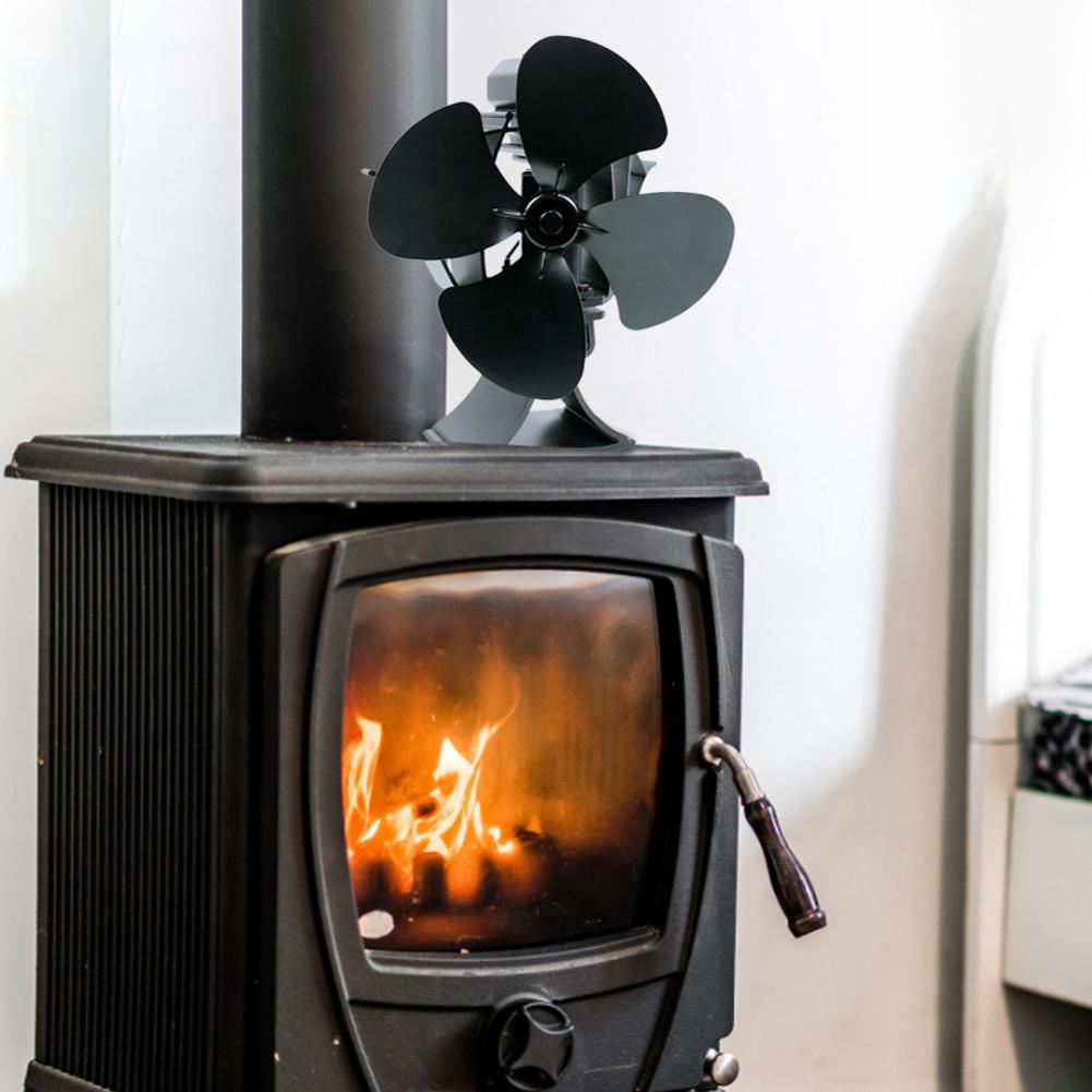 Fireplace Fan Heat Powered Stove Fan Environmentally Self-powered Safety Design Wooden Gas Pellet Furnace Fans Home Accessories