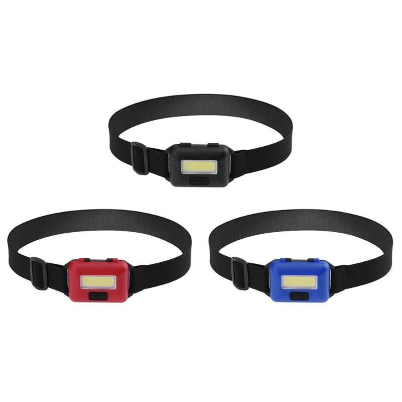 Mini COB LED Headlamp Headlight 3 Modes Waterproof Flashlight Headlight Torch Head Light For Outdoor Camping Night Fishing