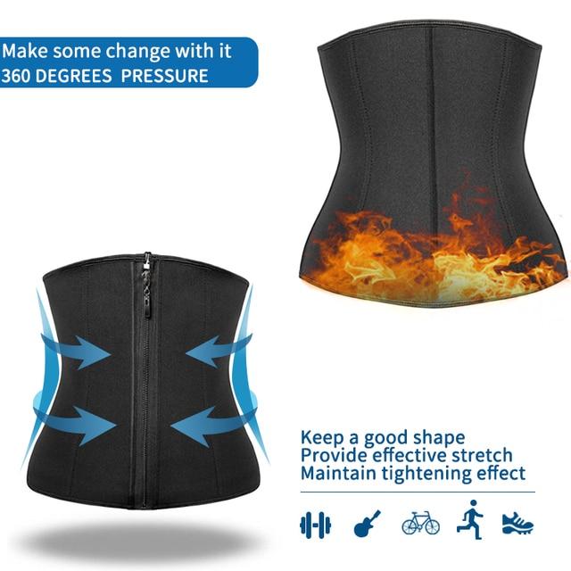 Men Waist Trainer Slimming Body Shaper Weight Loss Shapewear Modeling Belt Belly Shapers Sweat Trimmer Belt Reducing Slim Girdle 4