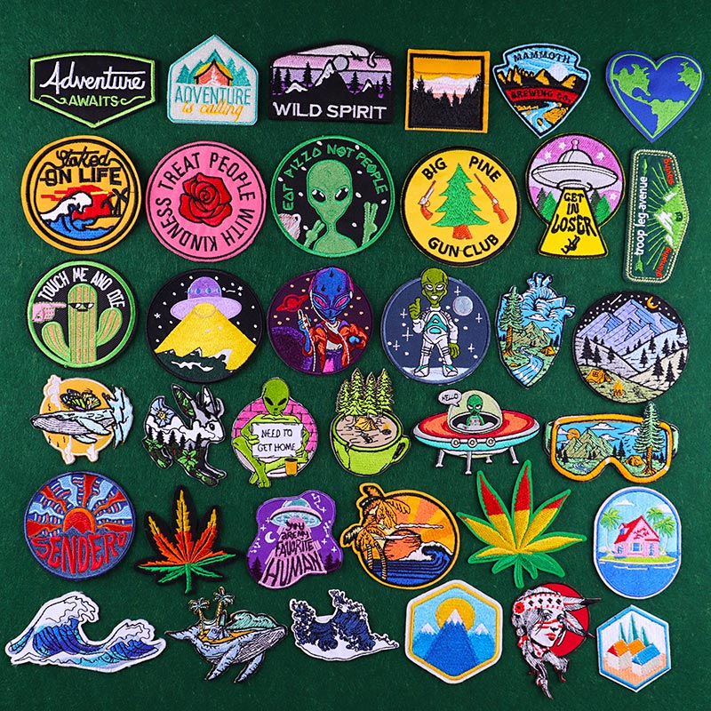 Patch patches embroidery iron flag on applique vintage kawaii jacket sew backpack denim jacket shorts biker  tooth brush
