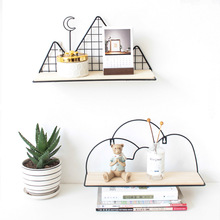 Northern Europe Cactus Dormitory Wall Shelf Living Room Decorative Hole Punched COLLEGE STUDENTS Hangers Storage
