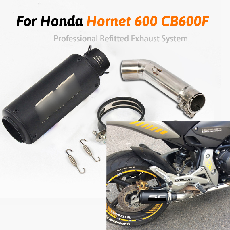 Motorcycle Exhaust Pipe Escape Modified Middle Link Pipe Muffler Slip  For Honda Variation Hornet 600 CB600F For CB600 DB Kille Exhaust & Exhaust Systems     - title=