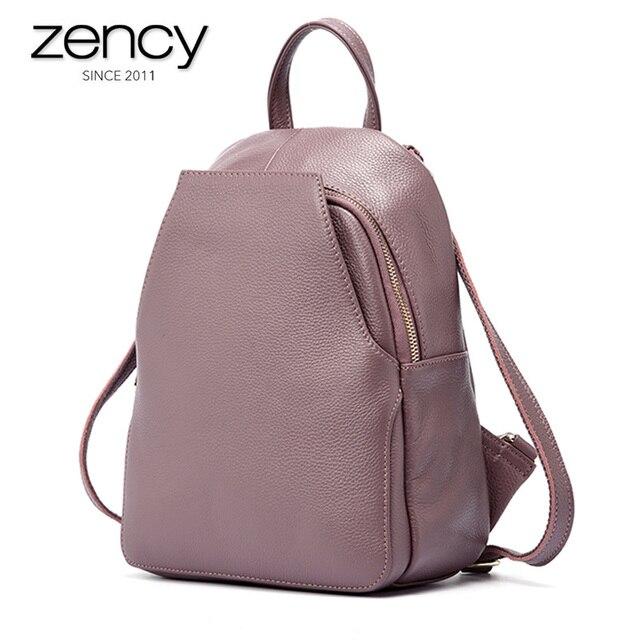 Zency 여성 정품 가죽 배낭 숙녀 패션 여행 가방 Femal 일일 휴일 배낭 Preppy 스타일 소녀의 Schoolbag