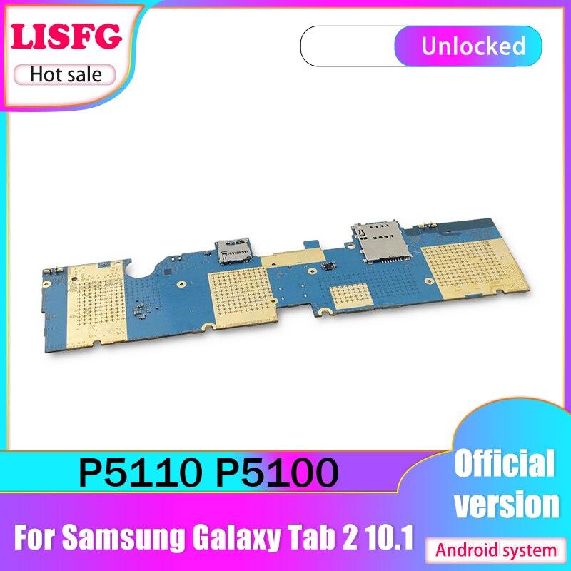 Carte mère originale débloquée pour Samsung Galaxy Tab 2 10.1 P5100 P5110, wi-fi et 3G, 1 go de RAM, 16 go de ROM