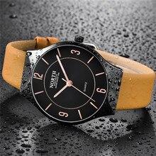 Luxury Brand NORTH Watches Casual Quartz Men Fashion Watches Leather Watch Men Simple Waterproof Wristwatches Relogio Masculino