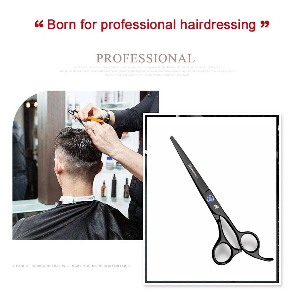 6 inch Cutting Thinning Styling Tool Hair Scissors Stainless Steel Salon Hairdressing Shears Regular Flat Teeth Blades