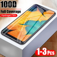 3 Pcs 100D Full Cover Hydrogel Film For Samsung Galaxy A10 A20 A30 A40 A50 A60 A70 M10 M20 A7 A8 2018 A50 Soft Protective Film