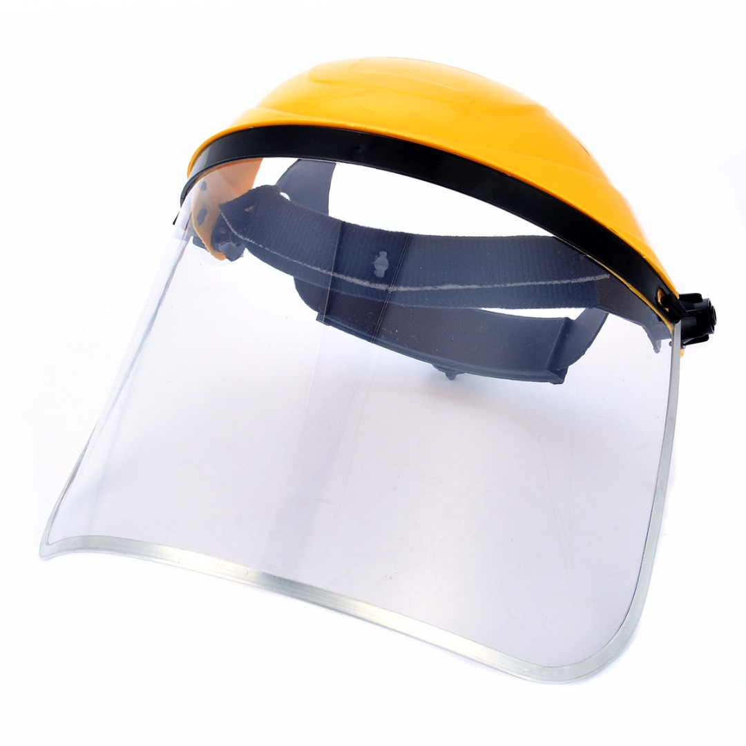 Transparent PVC Safety Face Shield Screen Mask Welding Helmet Grinding Face Shield Screen Mask Visors For Eye Face Protection