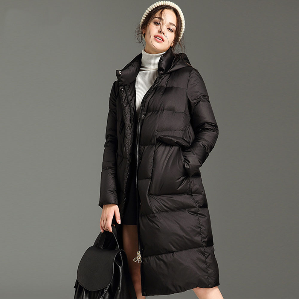 Sale Item Special Price Link Padded Jackets Oversize Loose Hooded Long Parkas Warm Casual Contour