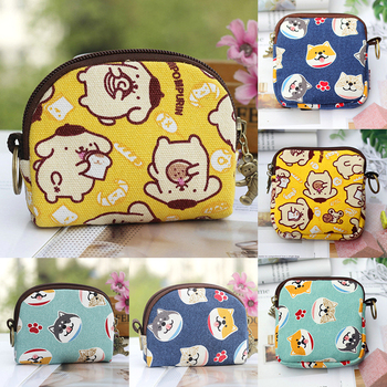 Nuevo Mini bolso de mujer monederos Kawaii billetera corta niñas gato pequeño bolso de lona bolsas de la tarjeta de las mujeres pochette monedero para las señoras