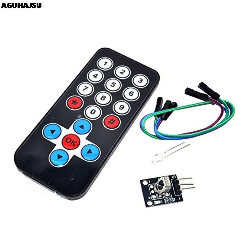 1set-infrared-ir-wireless-remote-control-module-kits-diy-kit-hx1838-for-font-b-arduino-b-font-raspberry-pi