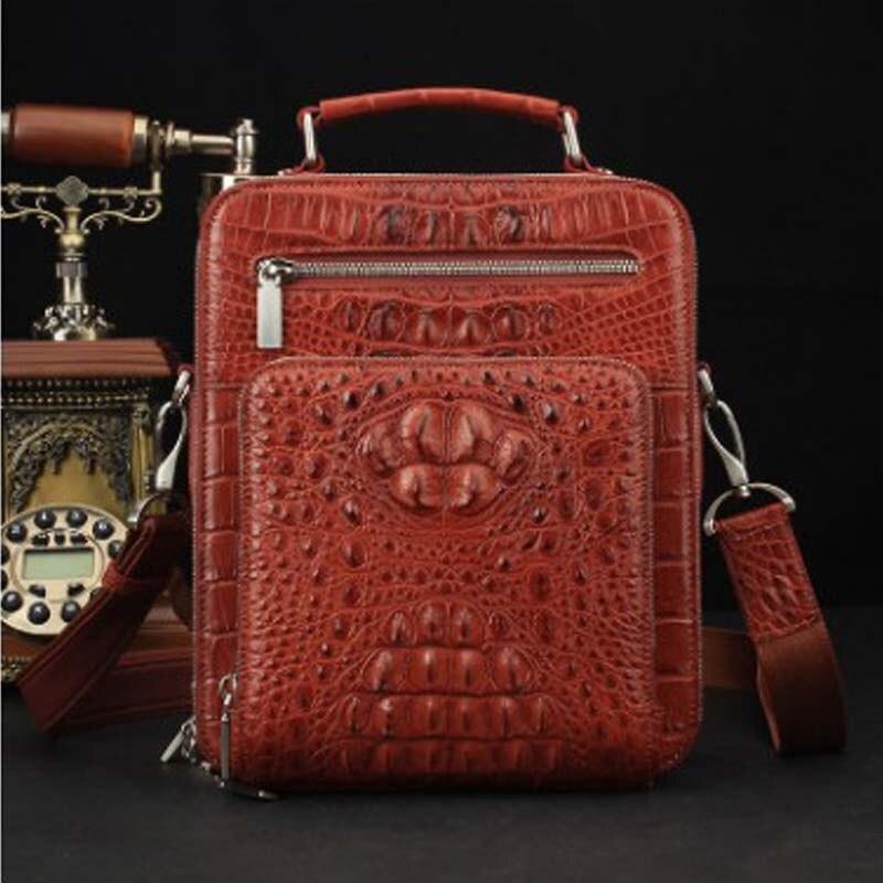 ourui true  crocodile  men  Single shoulder bag  Genuine leather  contracted  handbag  Men and women  general  handbag
