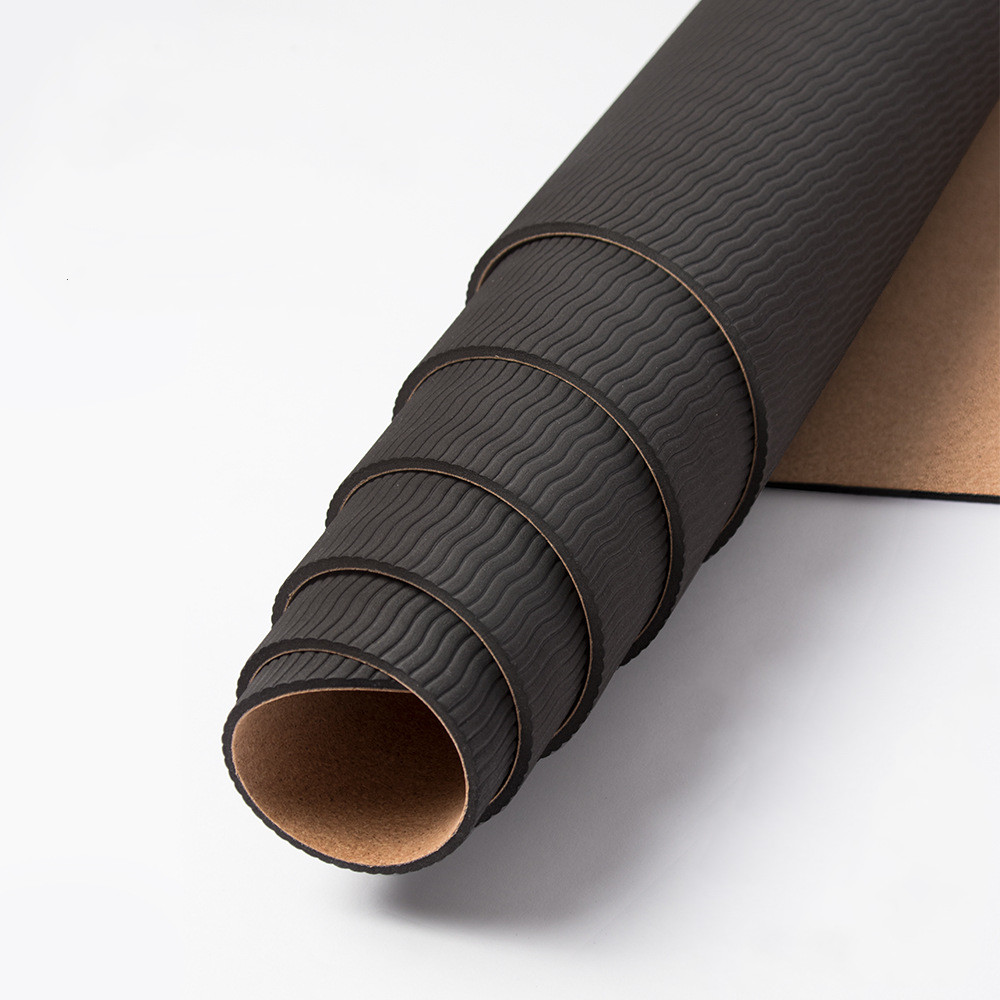183+61 Design Natural Cork TPE Yoga Mat Fitness Gym Sports Mats Pilates Exercise Pads Non-slip Yoga Mats Absorb Sweat Odorless