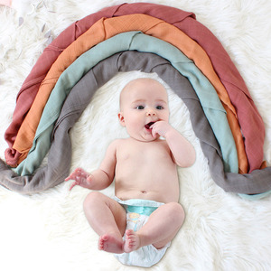 Image 4 - 120x120 см бамбуковое одеяло Пеленальное Одеяло детское муслиновое Пеленальное Одеяло однотонная хлопковая Детская Одеяло для новорожденных