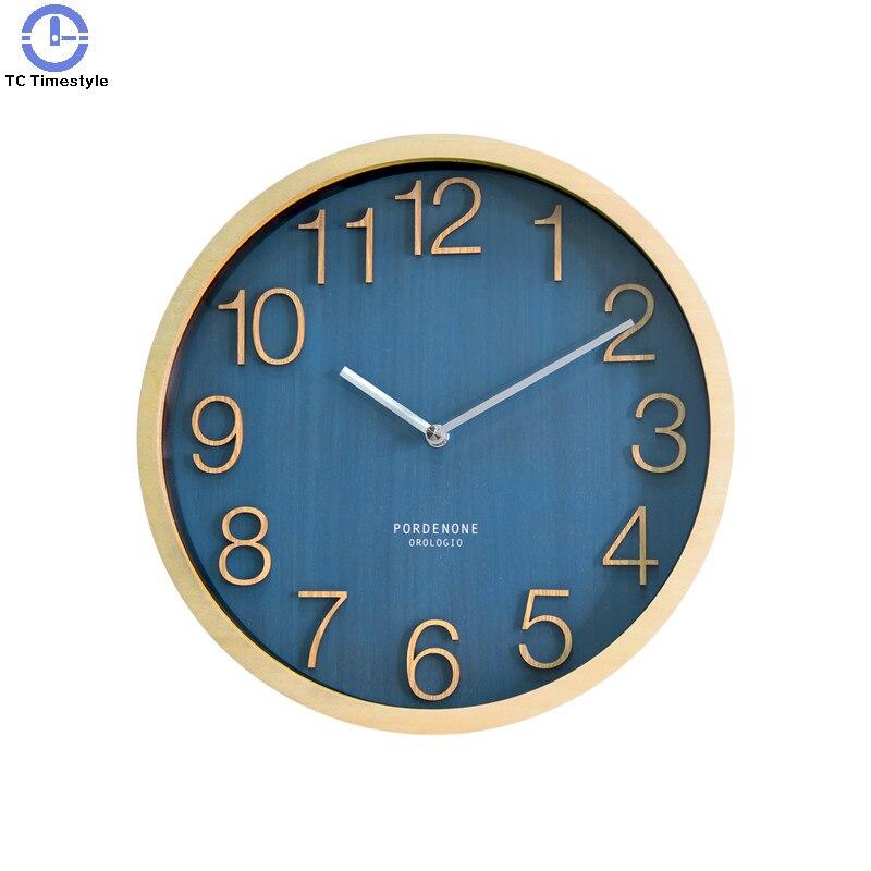 12 дюймов сплошная деревянная стена часы гостиная украшение дома японская спальня немой кварц современный дизайн часы минималистичный тихи