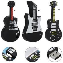 Pen Drive 128 Gb 64gb 32gb kształt gitary pamięć USB muzyka silikonowe Pendrive Pendrive oryginalne prezenty dyski