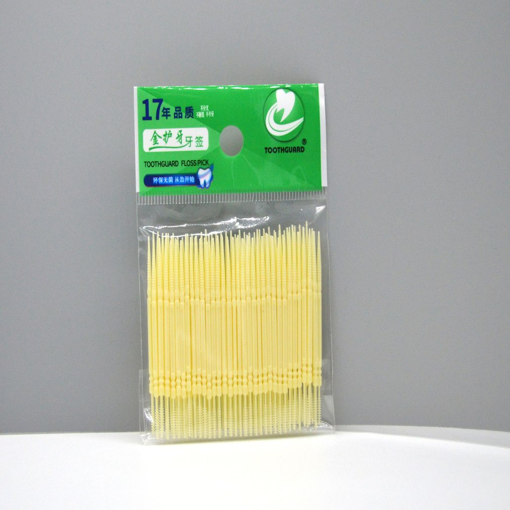 Disposable Double Head Plastic Tooth Floss Hygiene Dental Floss Interdental Toothpick Healthy For Teeth Cleaning Oral Care