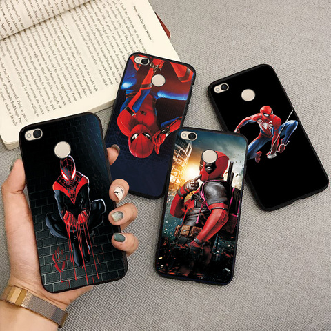 Black TPU Fashion Case For XiaoMi Redmi 4X Cute Spiderman Capa Phone Shell For Xiaomi Redmi Note 4X Back Cover Fundas Note 4 4X Multan