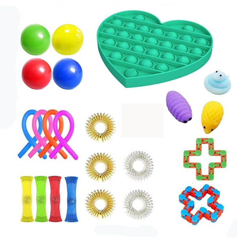 Fidget Toys 18/21/23PCS Pack Sensory Toy Set Antistress Relief Autism Anxiety Anti Stress img2