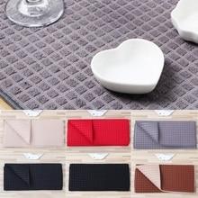 Esteira de secagem do prato de microfibra de 38x51 cm para utensílios de mesa da almofada da cozinha