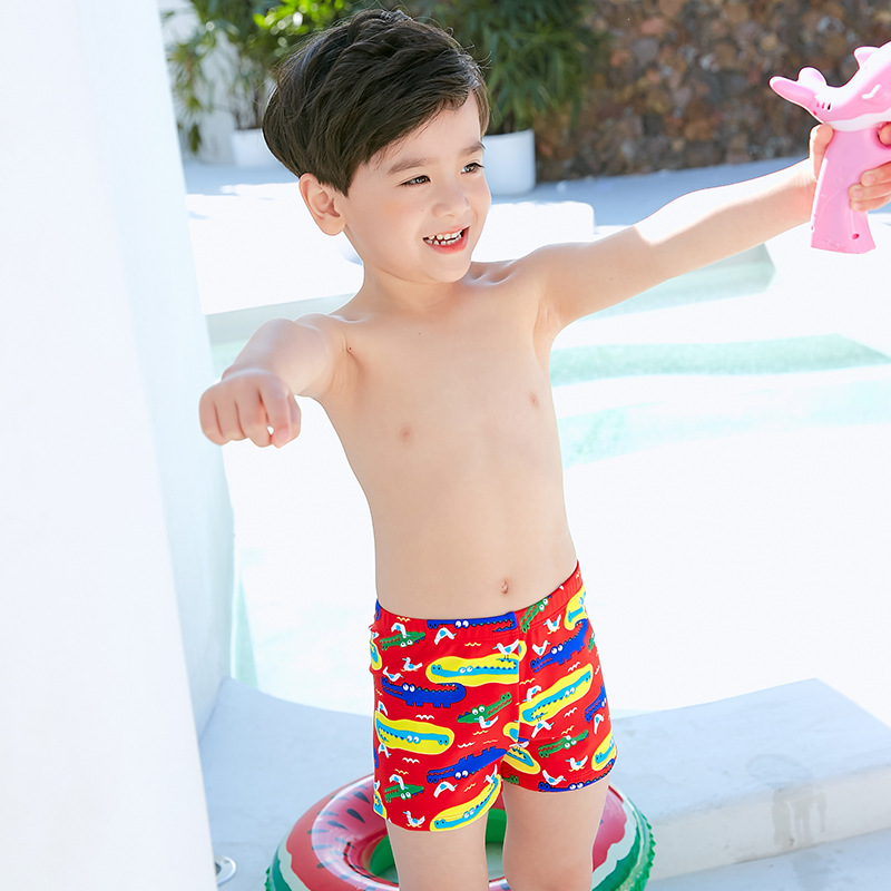 2019 Item Swimwear Cartoon Korean-style New Style Small CHILDREN'S Swimming Trunks