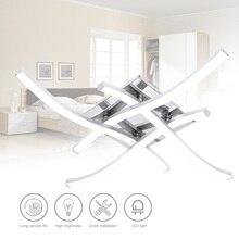 현대 18W 24W 3/4 분기 LED 천장 조명 Led 패널 빛 포크 모양의 천장 조명 거실 침실 장식 램프