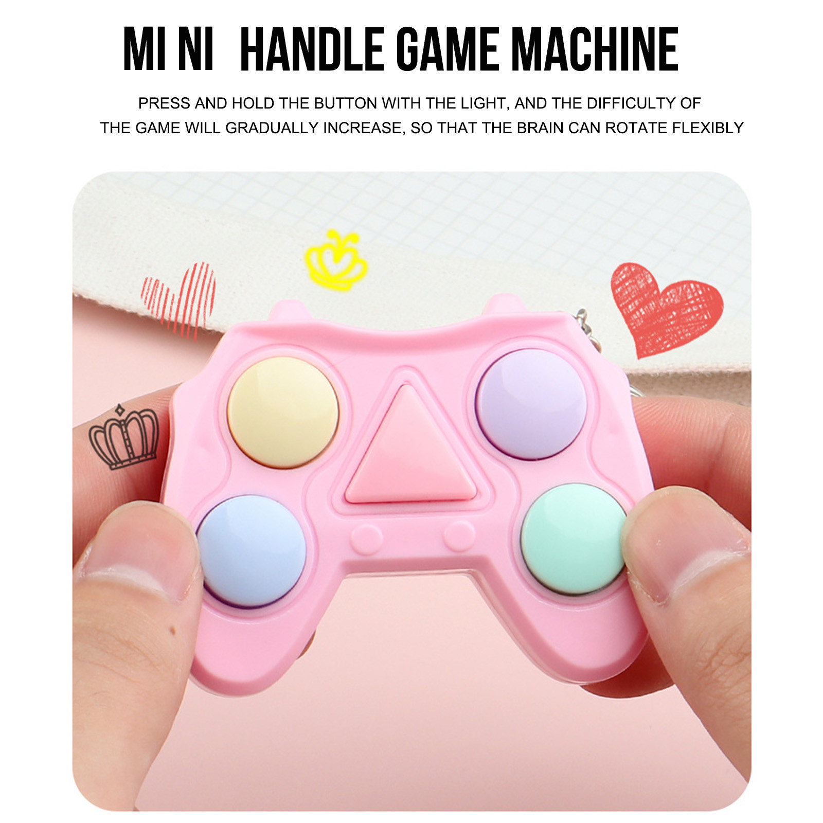 Figet Toy Keychain Memory-Stress Dimple Mini Handle Small Game Early-Educational Electronic img4