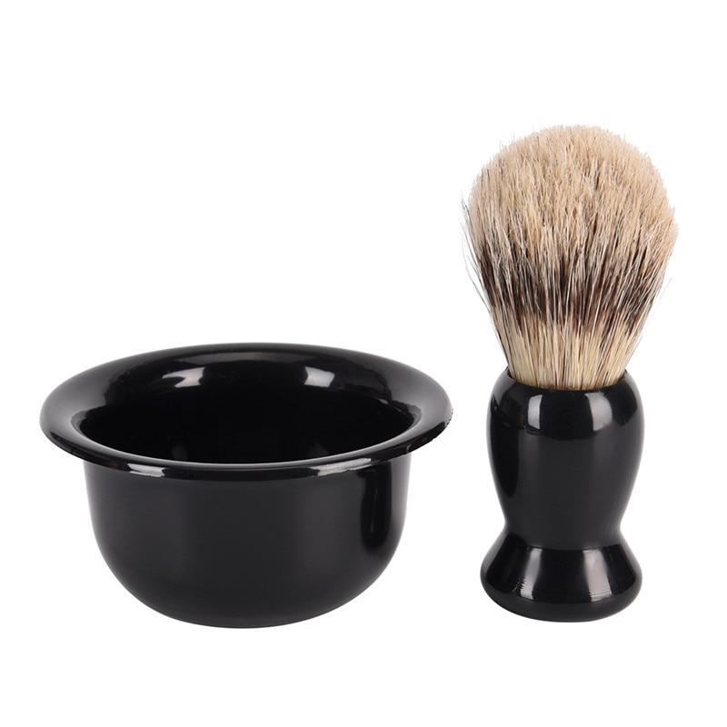 2018 Hot JETTING 3 in 1 Shaving Brush Set Soft Nylon Shaving Brush with Acrylic Stand Holder and Shaving Soap Bowl/Mug