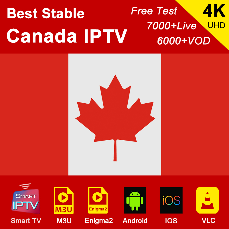 Canada IPTV Subscription M3U Abonnement IPTV France Spain Germany USA Italy Portugal Android Smart IPTV Enigma2 For IOS Phone