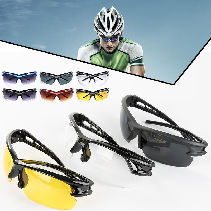 Unisex Adjustable Cycling Sunglasses Eyewear Cycling Driving Bike Outdoor Goggles Wind Resistant UV Protection Cycling Glasses