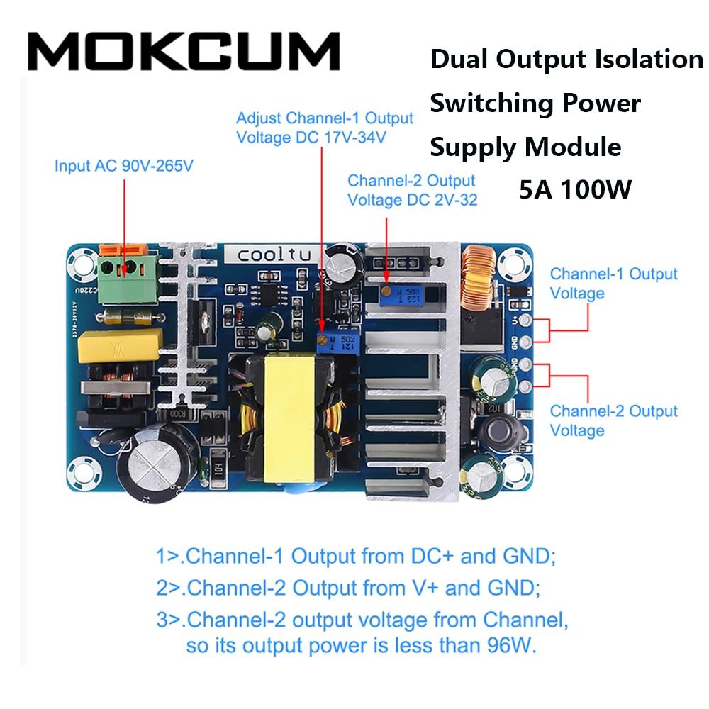 Dual Output Isolation Switching Power Supply Module Adjustable Buck Step Down Module AC-DC Converter 110V 220V to 12V 24V 36V