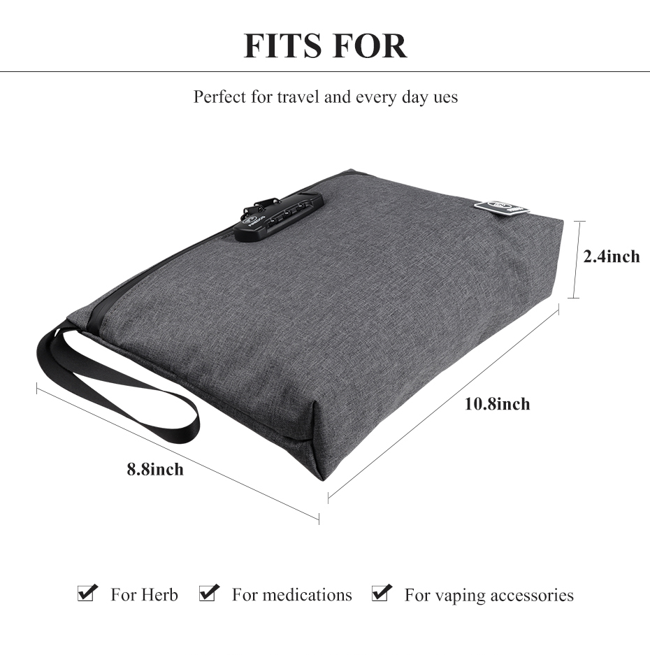 FIREDOG Smell Proof Bag with Combination Lock